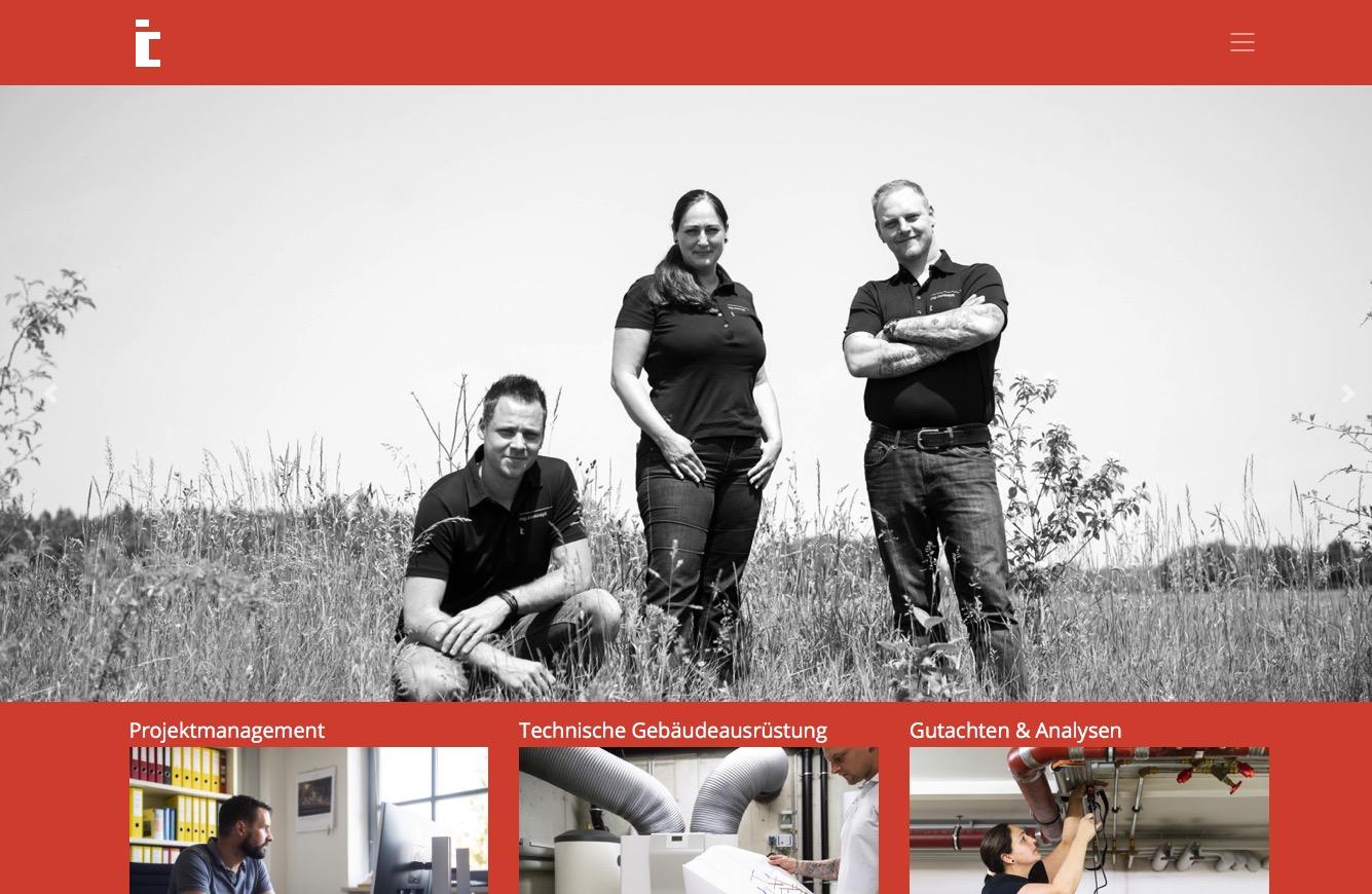 Webseite der ing.concept GmbH